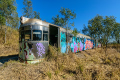 Silver Bullet I (stephenk1977) Tags: australia queensland rail silverbullet 2000 class abandoned neglected stored preserved