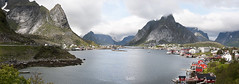 Reine. Lofoten Islands. Norway (ibethmuttis) Tags: mountains bay water sea sky clouds landscape rorbuer bushes grass snow nikond300 reine lofoten islands norway nordland ibeth