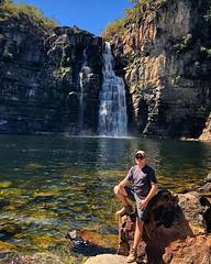 enjoying the nature (v.bastos22) Tags: day sun iphone waterfall nature brazil goiás cachoeira natureza