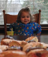 mmm donuts (pjayres) Tags: child donut wish wishing patience