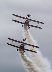 Wingwalkers (Treflyn) Tags: pair wingwalkers display boeing stearman biplane aerosuperbatics biggin hill airport 2018 festivalofflight festival flight