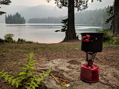 Goat Rocks, Day 3 - After-lunch coffee on Packwood Lake (chadcmarsh) Tags: randle washington unitedstates us