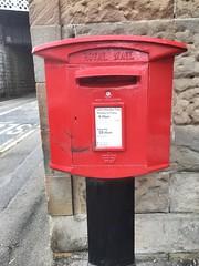 Royal Mail. (Bennydorm) Tags: box westlothian dalmeny modern luglio julio juillet july road redandblack wall southqueensferry iphone6s lascozia escocia ecosse schottland scotland mail mailbox postoffice royalmail red letterbox postbox