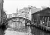 (frscspd) Tags: 66710006 20180106 pentax pentaxmx mx takumar takumar58mm 58mm ilford ilfordxp2 ilfordxp2400bw xp2 reflection reflections aerialperspective venice venezia canale canal bridge ponte