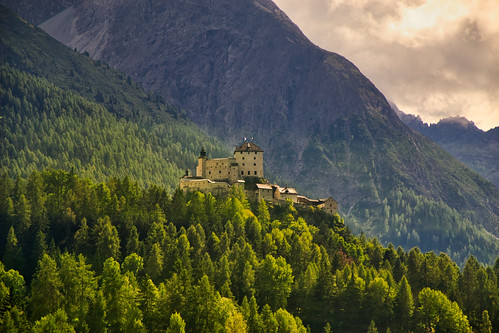 Tarasp castle, Lower Engadin, Switzerland