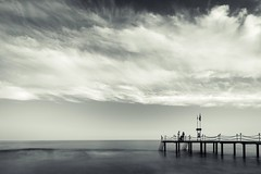 Zen series. (RKAMARI) Tags: 2016 cities mersin bw clouds family fineart longexposure mediterranean sea sky flickrsbest