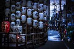 Morning Walk (Kame-rameha) Tags: morning walk people street festival dog woman lantern kyoto