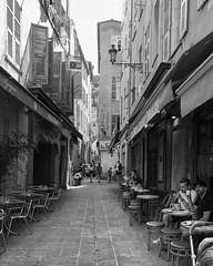 """Good Morning"" (giannipaoloziliani) Tags: hdr nikonphotography nikoncamera raw downtown europe streetlife streetphotography dark darkness flickr alleys nice nizza biancoenero monochrome monocromatico blackandwhite"