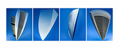 Cuatro Torres. Madrid. Spain. (COLINA PACO) Tags: architecture arquitectura madrid spain spagna españa espagne franciscocolina fotomanipulación fotomontaje photoshop photomanipulation blue azul azurro triptico