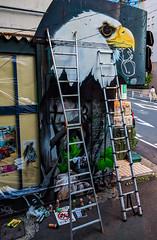 #227 Work in progress (tokyobogue) Tags: tokyo japan shibuya nexus6p nexus 365project street streetart graffiti alley eagle