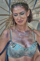 Glittered (Scott 97006) Tags: woman female lady glitter mermaid costume pretty bikini umbrella makeup