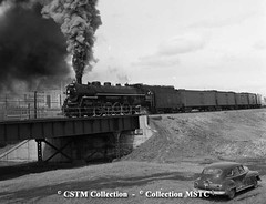 Final CN Steam Train arrives in Winnipeg, 1960 (vintage.winnipeg) Tags: winnipeg manitoba canada vintage history historic trains