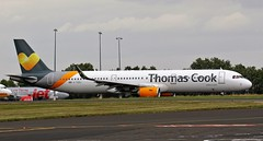 G-TCDJ THOMAS COOK AIRBUS A321 NEWCASTLE AIRPORT (toowoomba surfer) Tags: aeroplane airline airliner aviation aircraft ncl egnt jet