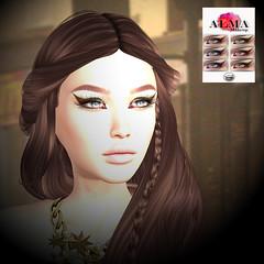 LuceMia - ALMA Makeup (2018 SAFAS AWARD WINNER - Favorite Blogger - MISS ) Tags: almamakeup aster sl secondlife mesh fashion creations blog beauty hud colors models lucemia