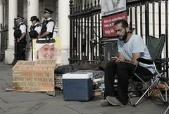 Bahraini hunger striker hopes to save his Dad. (alisdare1) Tags: hassanmushaima alimushaima hungerstrike hungerstriker bahrain bahrainembassy bahrainiembassy london humanrights democracy protest