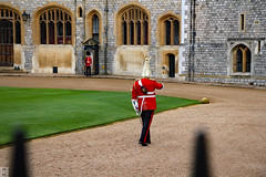 On guard (Can Pac Swire) Tags: windsor castle berkshire sl4 england english great britain british uk unitedkingdom royal residence soldier queensguards queensguard 2016aimg2402