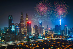 Firework over kuala lumpur city, Malaysia skyline (Patrick Foto ;)) Tags: anniversary asia beautiful building capital celebration center centre christmas city cityscape colorful day event explosion festival fireworks kl klcc kuala landmark landscape lumpur malaysia modern national new night park party scene shopping show skyline skyscraper tower twin urban view xmas year kualalumpur wilayahpersekutuankualalumpur my
