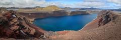 Ljotipollur  panorama (camelos) Tags: landmannalaugar lake stone mountains river iceland spring