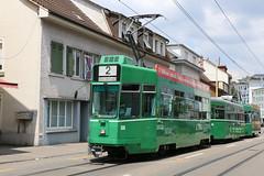 2018-06-25, BVB, Binningen Hauptstrasse (Fototak) Tags: tram strassenbahn schindler ffa cornichon bvb basel switzerland ligne2 500 1486 502