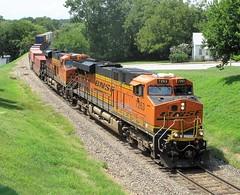 BNSF 7263, Rolla (Mo.), 20 August 2018 (milanite) Tags: bnsf bnsfrailway railroads locomotives bnsf7263 bnsf6880 rollamo phelpscountymo missouri