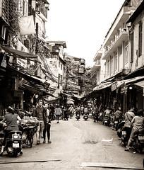 Streets of Hanoi #2 (Mat Distef) Tags: vietnam streetphotography black white blanc noir bw travel light