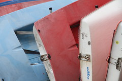 Dominos (Rambling Badger) Tags: seaside kent whitstable coast boats dinghys faded