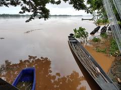 Boats on the Mekong in Phon Phisai 1 (SierraSunrise) Tags: boats esarn isaan mekong mekongriver nongkhai phonphisai rivers thailand transportation