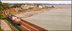 The going away shot. (peterdouglas1) Tags: directrailservices class68 68018 68034 llanfairfechan seaside beaches valleyflasks 6d43
