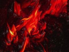 The Flames of Hell (Steve Taylor (Photography)) Tags: hell digitalart brown red canterbury southisland nz christchurch burning fire flame heat hot