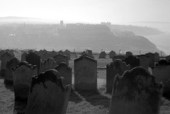 Graveyard near Whitby Abbey (Tony Worrall) Tags: update place location uk england north visit area attraction open stream tour country item greatbritain britain english british gb capture buy stock sell sale outside outdoors caught photo shoot shot picture captured yorkshire northyorkshire yorks whitby photographsofwhitby whitbyphotos whitbyabbey grim grey scene scenic graveyard gravestone grave tombstone tomb