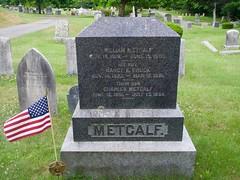 William Metcalf (Civil War Vet) & Family (Pak T) Tags: americanflag cemetery civilwar fairviewcemetery flag grave graveyard headstone massachusetts metcalf veteran westford william