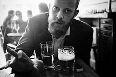 berlin 2018 (SimonSawSunlight) Tags: blackandwhite analogue film m rangefinder documentary personal porrtait photography mafia mob cigar bar beer leica mda 35mm colorskopar kodak trix 400