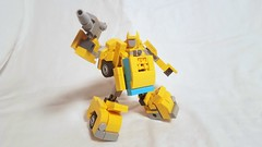 LEGO Transformers: G1 Bumblebee [With Instructions] (michaelpickardart) Tags: lego transformers bumblebee optimus pirme megatron starscream instructions g1 robots mech toys vw beetle autobots decepticons build