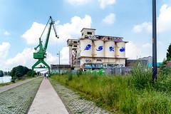 The Old Docks (devos.ch312) Tags: graffiti perspective oldplant concreteplant crane sony a7rii a7rm2 ilce7rm2 zeiss fe2470mmf4zaoss ghent olddocks christinedevos