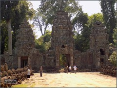 Angkor, Preah Khan Entrance 20180203_125044 DSCN2697 (CanadaGood) Tags: asia seasia asean cambodia siemreap angkor buddhist hindu khmer preahkhan temple nāga sculpture people person tree building architecture archaeology canadagood 2018 thisdecade color colour