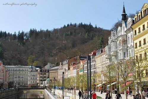Pastel of Karlovy Vary.