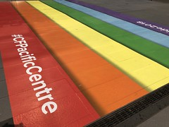 Pride Walkway Downtown (Sherwood411) Tags: sherwood411 vancouver pride walkway downtown rainbow cf pacific center cfpacificcenter