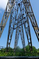 Old electricity towers near Radio Kootwijk (Nelleke C) Tags: 2018 radiokootwijk cultureelerfgoed electricitteitsmast gelderland heathland heide nederland netherlands veluwe