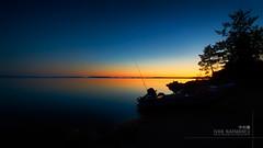 Tranquility (ru245kyuoku) Tags: night lake sea skylight forest shilouette dark glow boat shore blue vivid horizon deep sunset twilight summer polar 夜 湖 海 林 木 tree 舟 青 sky 空 トワイライト