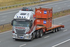 SP12 CHY (panmanstan) Tags: iveco stralis wagon truck lorry commercial stepframe freight transport haulage vehicle a1m fairburn yorkshire