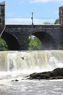 Waterfalls on Otter Creek in Middlebury, VT