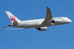 JA845J (markyharky) Tags: heathrow airport heathrowairport london londonheathrow lhr egll aircraft aviation avgeek ja845j boeing 787 dreamliner boeing787 jal japan airlines japanairlines
