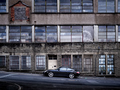 Backstreet Porsche (Johnners61) Tags: haslingden rossendale lancashire england britain uk porsche porsche911 street backstreet urban town sportscar supercar city mood moody grunge grungy dark atmospheric symmetry symmetrical factory mill olympus pen ep5 olympuspen microfourthirds micro four thirds mft m43