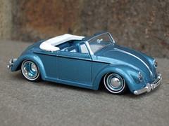 Jada Toys Ice Blue 1949 VW Volkswagen Hebmuller Convertible  Cabriolet (beetle2001cybergreen) Tags: jada toys ice blue 1949 vw volkswagen hebmuller convertible cabriolet