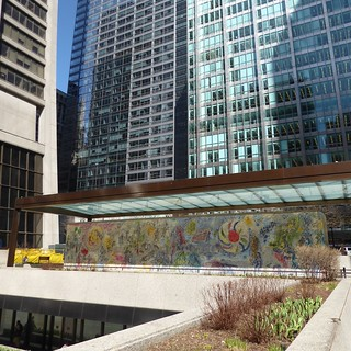Chicago, Exelon Plaza (formerly named First National Plaza), The Four Seasons Mosaic (Artist: Marc Chagall)