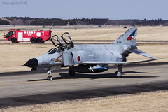 Japan Air Self Defence Force, McDonnell Douglas F-4EJ Kai Phantom II, 97-8417. (M. Leith Photography) Tags: mark leith photography japan japanese self air defence force jasdf mcdonnell douglas phantom f4 ibaraki hyakuri sunshine base fighter nikon d7000 d7200 70200vrii 300mmf4 nikkor asia flying military sky building airplane aircraft cockpit jet grass tree