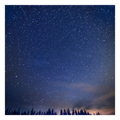 Window to the Galaxy (jbarc in BC) Tags: stars sky space galaxy trees astrophotography longexposure clouds night infinite starlight meteor meteors smoke forestfire