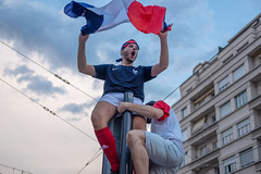 Celebrating France's world cup win 2018. Grenoble France (cjthorose) Tags: worldcup2018 worldcup wc2018 france grenoble celebration