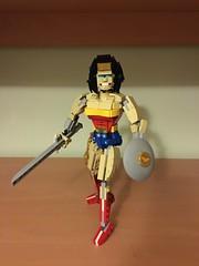 Wonderwoman (brickflux) Tags: lego wonderwoman wonder woman toy moc brickbuilt dc comics dccomics sword shield lasso