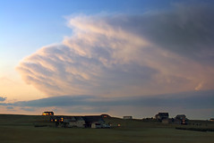 Tornadic Sunset Thunderstorm (northern_nights) Tags: twilight goldenhour bluehour thunderstorm severethunderstorm cheyenne wyoming